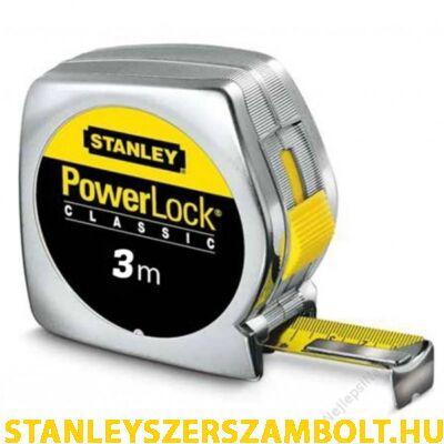 Stanley PowerLock fémházas mérőszalag 3méter (0-33-218)