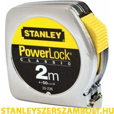 Stanley PowerLock fémházas mérőszalag 2méter (0-33-236)