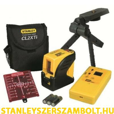 Stanley FatMax CrossLine CL2XTi keresztsugaras lézeres szintező készlet 25m (1-77-121)