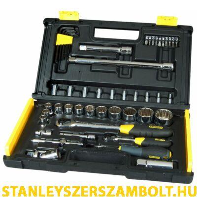 """Stanley 1/4"""" és 1/2"""" Profi mikroracsnis dugókulcs készlet 50 részes (1-94-658)"""