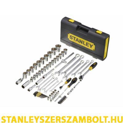 """Stanley  1/4"""" és 1/2"""" Profi mikroracsnis dugókulcs készlet 75 részes (1-94-660)"""