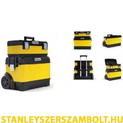 Stanley Kerekes szerszámoskocsi ládával fém/műanyag sárga (1-95-831)