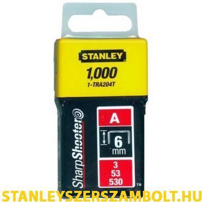 """Stanley Tűzőkapocs """"A""""  6mm (3/53/530) 1000db (1-TRA204T)"""