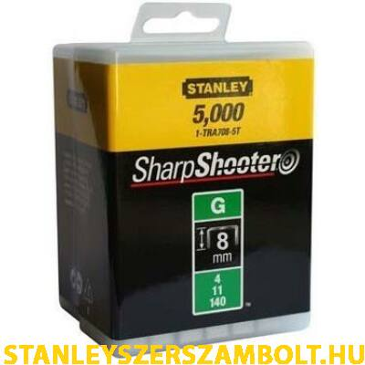 """Stanley Tűzőkapocs """"G""""  6mm (4/11/140) 5000db (1-TRA704-5T)"""