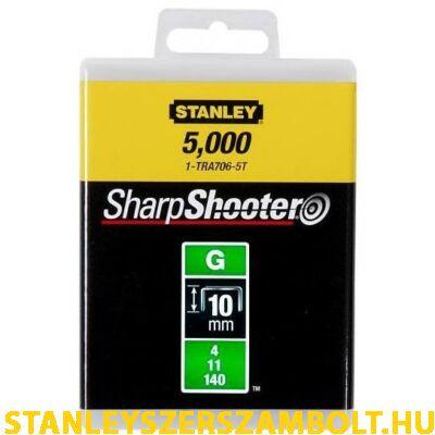 """Stanley Tűzőkapocs """"G"""" 10mm (4/11/140) 5000db (1-TRA706-5T)"""