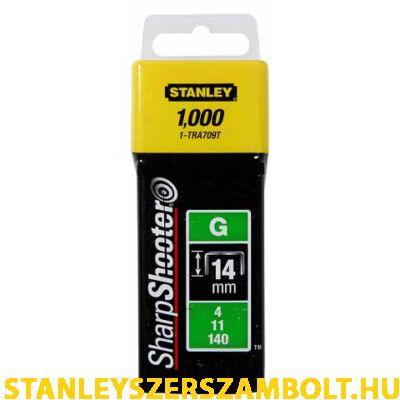 """Stanley Tűzőkapocs """"G"""" 14mm (4/11/140) 1000db (1-TRA709T)"""