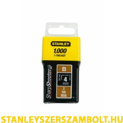 "Stanley Tűzőkapocs ""B"" 4mm (2/58/958) 1000db (1-TRS102T)"