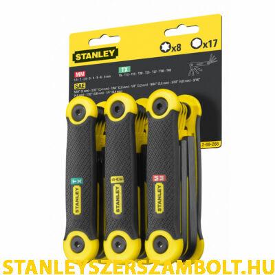 Stanley imbuszkulcs készlet metrikus+inch+torx 25 részes (2-69-268)