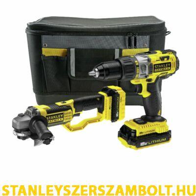 Stanley 18V Ütvefúró és Sarokcsiszoló készlet (FMCK464D2)