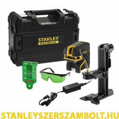 Stanley FatMax 5 Pontos Keresztsugaras Li-Ion Lézer – Zöld  (FMHT77598-1)