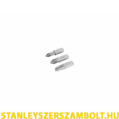 Stanley PH1, PH2, PH3 Bitfej szett 25mm (STA61023)