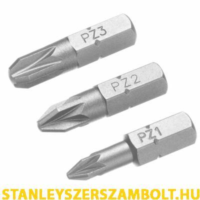 Stanley PZ1, PZ2, PZ3 Bitfej szett 25mm (STA61043)
