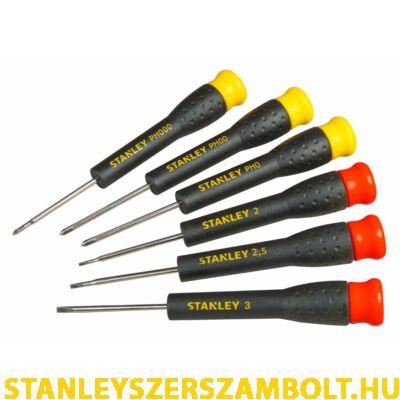 Stanley precíziós rögzített pengés csavarhúzó készlet, 6 részes (STHT0-62632)