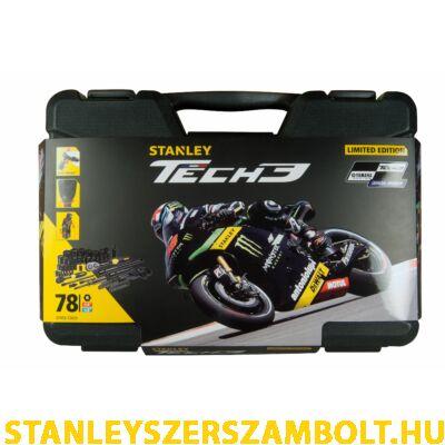 """Stanley Tech3 78 részes dugókulcs készlet 1/4"""" és 1/2"""" matt fekete (STHT0-72655)"""