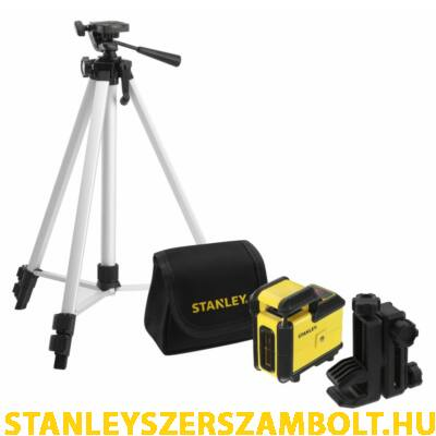 Stanley SLL360 Keresztlézer, Tripod, Táska – Vörös (STHT77640-1)