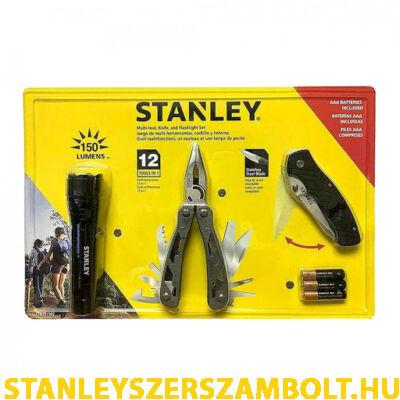 Stanley Multitool szett, késsel, 150 lumenes elemlámpával (STHT81502-0)