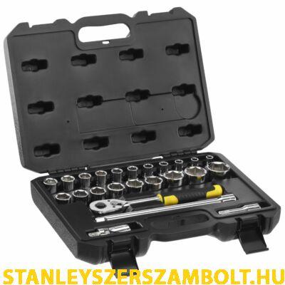 """Stanley 1/2"""" Dugókulcs Szett 5 Fokonkénti Fogazással, 24 Részes Kemény Dobozban (STMT82830-1)"""
