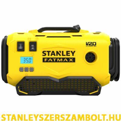 Stanley FatMax V20 akkumulátoros 11 BAR nyomású hármas forrású inflátor (SFMCE520B)
