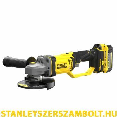 Stanley FatMax V20 akkumulátoros sarokcsiszoló, 125 mm (SFMCG400M2K)