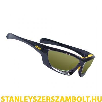 Stanley Keretes védőszemüveg sárga tükrös lencsévél (SY180-YD)