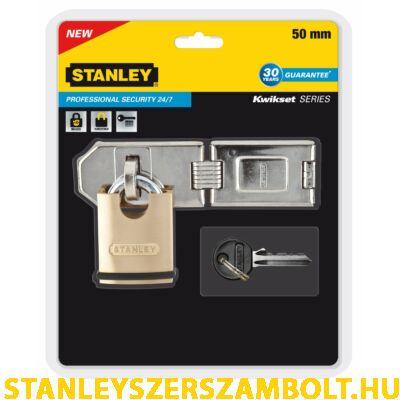 Stanley Prémium minőségű, burkolt lakat, biztonsági lakatpánttal 40mm (S742-009)