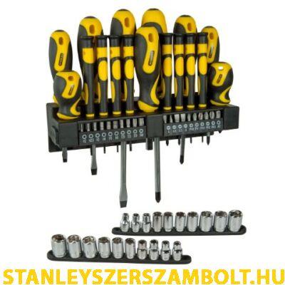 Stanley 57 részes csavarhúzó készlet fali tartóval (STHT0-62143)