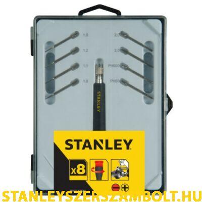 Stanley precíziós cserélhető pengés csavarhúzó készlet,  8 részes (STHT0-62629)