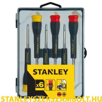 Stanley precíziós rögzített pengés csavarhúzó készlet,  6 részes (STHT0-62631)